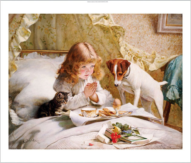 Suspense. Charles Burton Barber (1845-1894). Oil On Canvas, 1894.